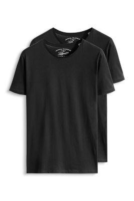 Esprit / 2 basic jersey t-shirts, 100% cotton