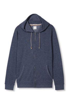 Esprit / mottled sweatshirt hoodie in blended cotton