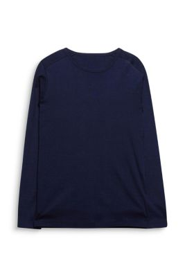 Esprit / Basic ribbed long sleeve top, 100% cotton