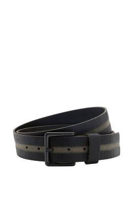 Esprit / Büffelleder Gürtel mit Rillen und Streifen