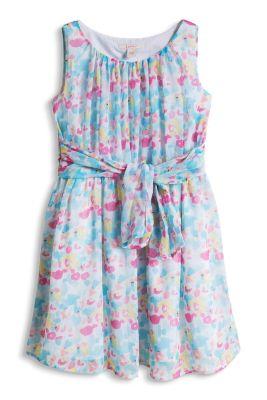 Esprit / Geblümtes Chiffon Kleid mit Baumwollfutter