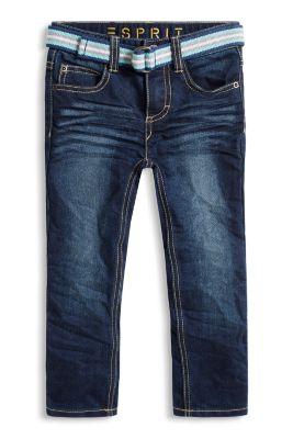 Esprit / Dark-Denim-Jeans mit Gürtel