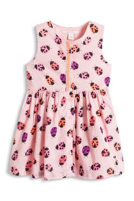 Esprit / Kleid mit buntem Print, 100% Baumwolle