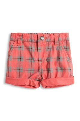 Esprit / Karierte Shorts aus 100% Baumwolle