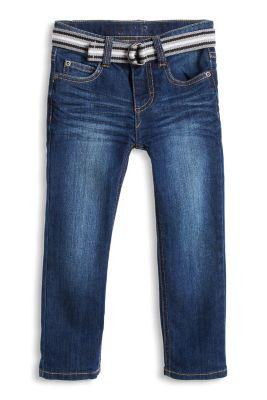 Esprit / Weiche Stretch-Jeans mit Webgürtel