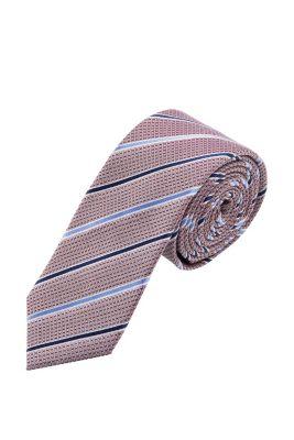 Esprit / Gestreifte Krawatte, 100% Seide