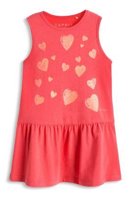 Esprit / Glitter-Print Shirt-Kleid, 100% Baumwolle