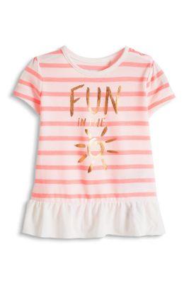 Esprit / Weiches Streifen T-Shirt mit Glanz-Print,