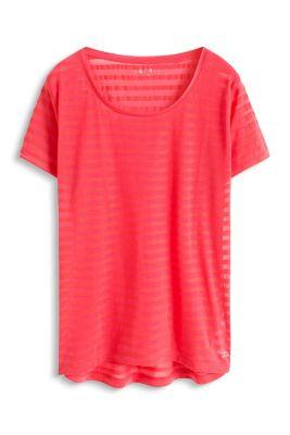 Esprit / Baumwoll-Mix Sport T-Shirt mit Streifen