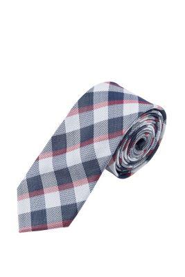 Esprit / Krawatte mit großem Karo, 100% Seide