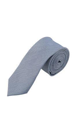 Esprit / Krawatte mit Strukturmuster, 100% Seide