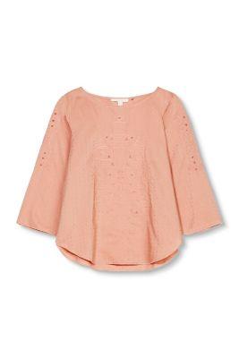 Esprit / Fashion Bluse mit Lochmuster-Stickerei