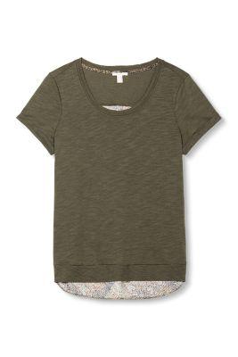Esprit / T-shirt i materialemiks