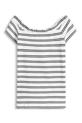 Esprit / T-shirt carmen en coton/stretch