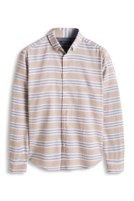 Esprit / Overhemd met dwarsstrepen, 100% katoen