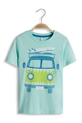Esprit / T-shirt avec un bus et une planche, coton