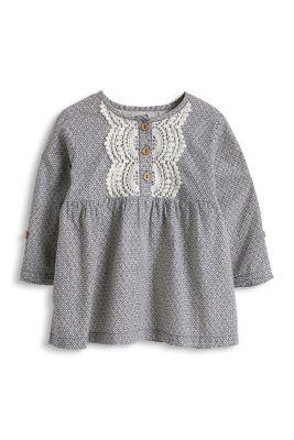 Esprit / Bestickte Bluse aus 100% Baumwolle
