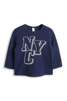 Esprit / Sweatshirt mit Struktur, 100% Baumwolle