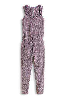 Esprit / Silkeblødt jumpsuit med paisleyprint