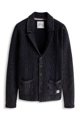 Esprit / Baumwoll Sweat Blazer mit Struktur