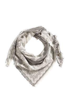 Esprit / Dreieckstuch aus Baumwoll-Mix