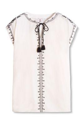 Esprit / Bluse mit Stickerei, 100% Baumwolle
