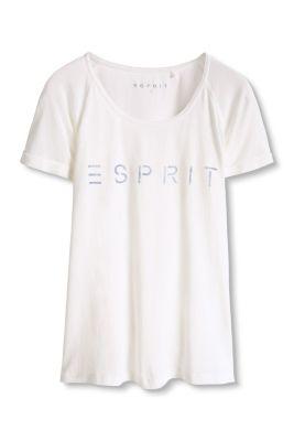 Esprit / Logo Sport T-Shirt aus Baumwoll-Mix
