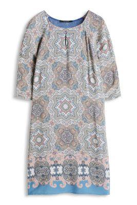 Esprit / Fließendes Shirt-Kleid mit Paisley-Print