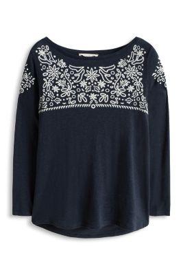 Esprit / Fashion Shirt mit Kontrast-Stickerei