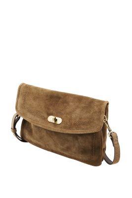 Esprit / Schultertasche aus Leder