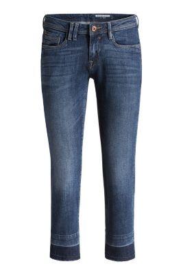 Esprit / Ankle-Jeans mit Fransensaum