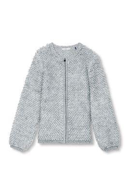 Esprit / Schlaufenstrick-Cardigan mit Wolle