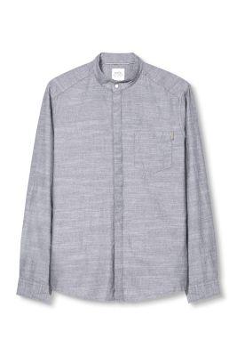 Esprit / Stehkragen-Hemd, 100% Baumwolle