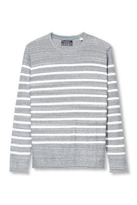 Esprit / Gestreifter Melange-Pulli aus Baumwolle