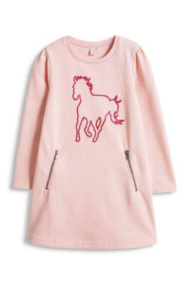 Esprit / Weiches Sweat-Kleid mit Glitter-Print