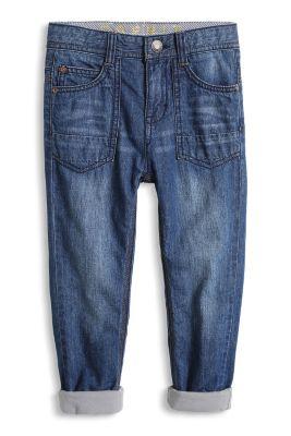 Esprit / Non-Stretch Jeans mit Jersey-Futter