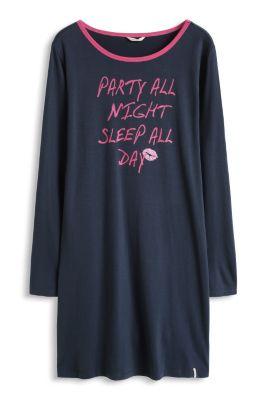 Esprit / Jersey-Nachthemd aus 100% Baumwolle