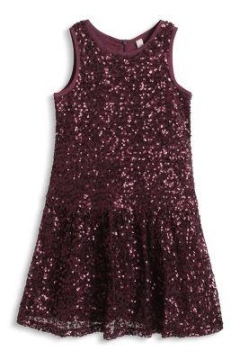 Esprit / Pailletten Kleid aus weichem Mesh