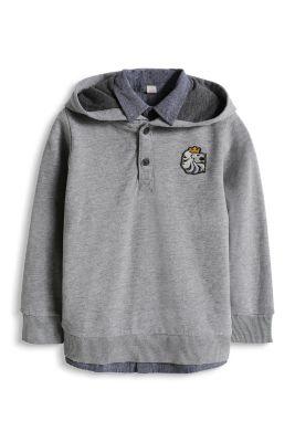 Esprit / Baumwoll Sweat Hoodie mit Hemdkragen