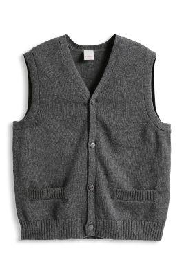Esprit / Weiche Feinstrick Weste, 100% Baumwolle