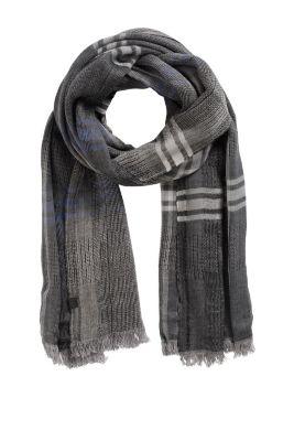 Esprit / Karierter Schal aus Baumwoll-Mix