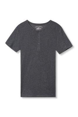 Esprit / Basic Jersey Henley aus Baumwoll Mix