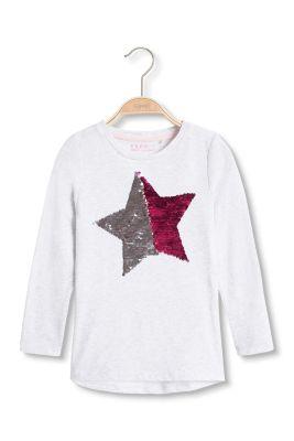 Esprit / Long sleeve top + bi-colour sequin star