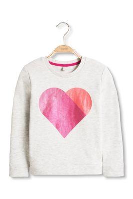 Esprit / Baumwoll Sweatshirt mit Metallic-Herz