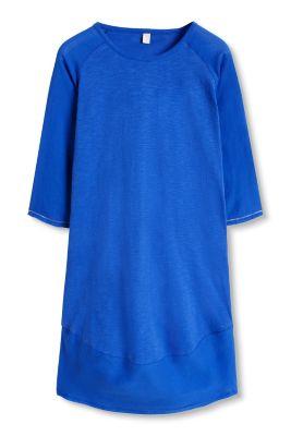 Esprit / Baumwoll Jersey Kleid mit Web-Details
