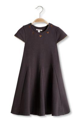Esprit / Heavy Jersey Kleid mit Stickerei und Borten