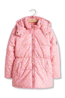 Esprit / Wattierte Thermo-Jacke mit Herzchen-Print