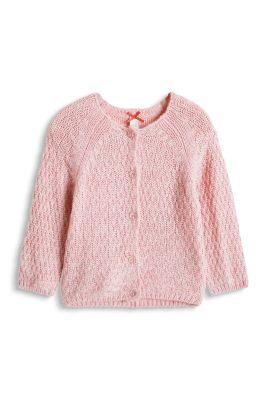 Esprit / Gilet en grosse maille à teneur en laine